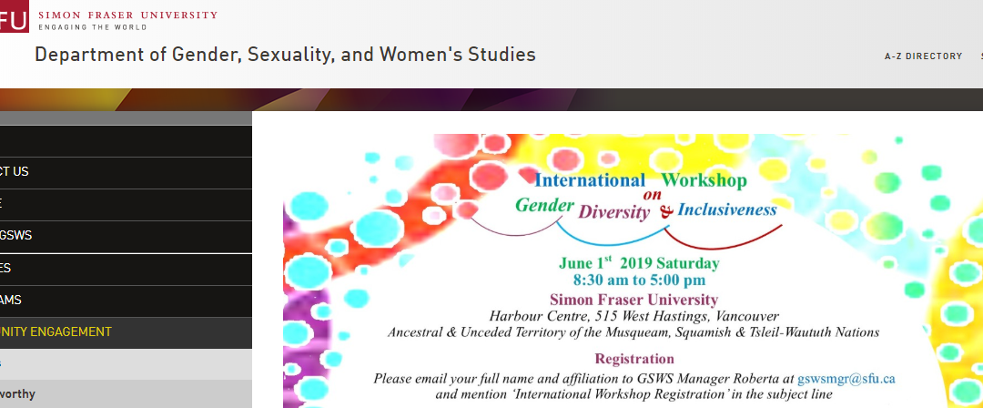 International Workshop on Gender, Diversity & Inclusiveness