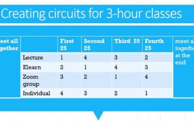 Reimagining the Three-hour Synchronous Online Class: Welcome to Kym Stewart's Three-Hour Circuit